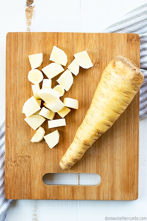 Similar to carrots, parsnips are best in the winter months when the frost ground cover makes the roots nice and sweet.
