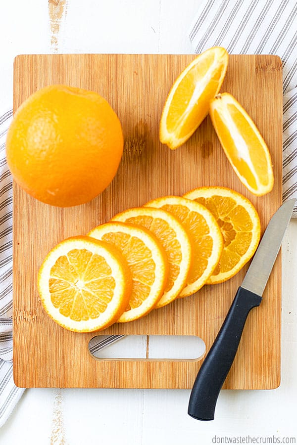 Freezing oranges or lemons whole is one of the best ways to preserve citrus. Plus, you can use the outer layer if you need lemon or orange zest for a recipe!