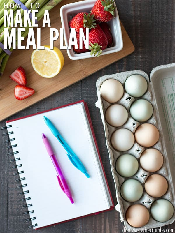 Making a meal plan is the BEST way to keep your family eating real food on a real budget. Once you establish a meal plan, eating real food and maintaining a budget becomes easy!