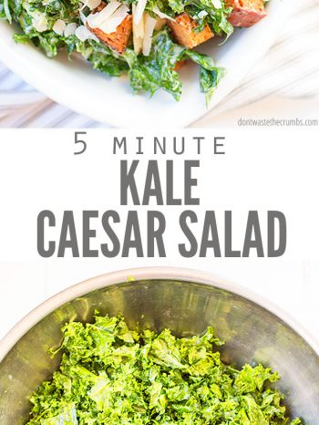 Try this easy Kale Caesar Salad recipe that is super versatile with vegetarian and dairy-free options! Enjoy year-round with grilled chicken or by using our delicious Slow Cooker Chicken recipe.