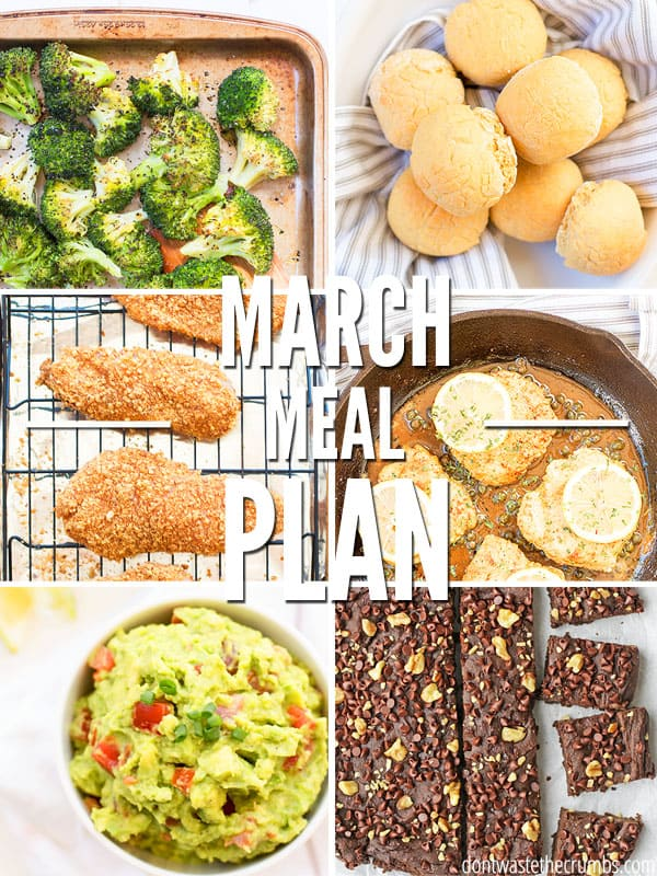 This free clean eating meal plan is full of tasty budget friendly meals the whole family will love!