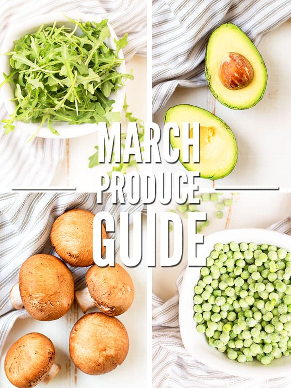 This March Seasonal Produce guide will help you eat the most nutrient dense veggies of the season plus save you tons of money!