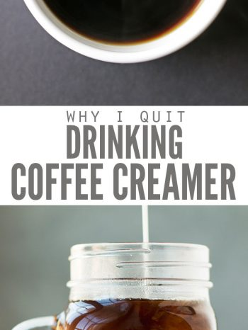 Find out Why We Stopped Drinking Coffee Creamer - And why hydrogenated oils are bad for your health. Learn what we use for our coffee instead!