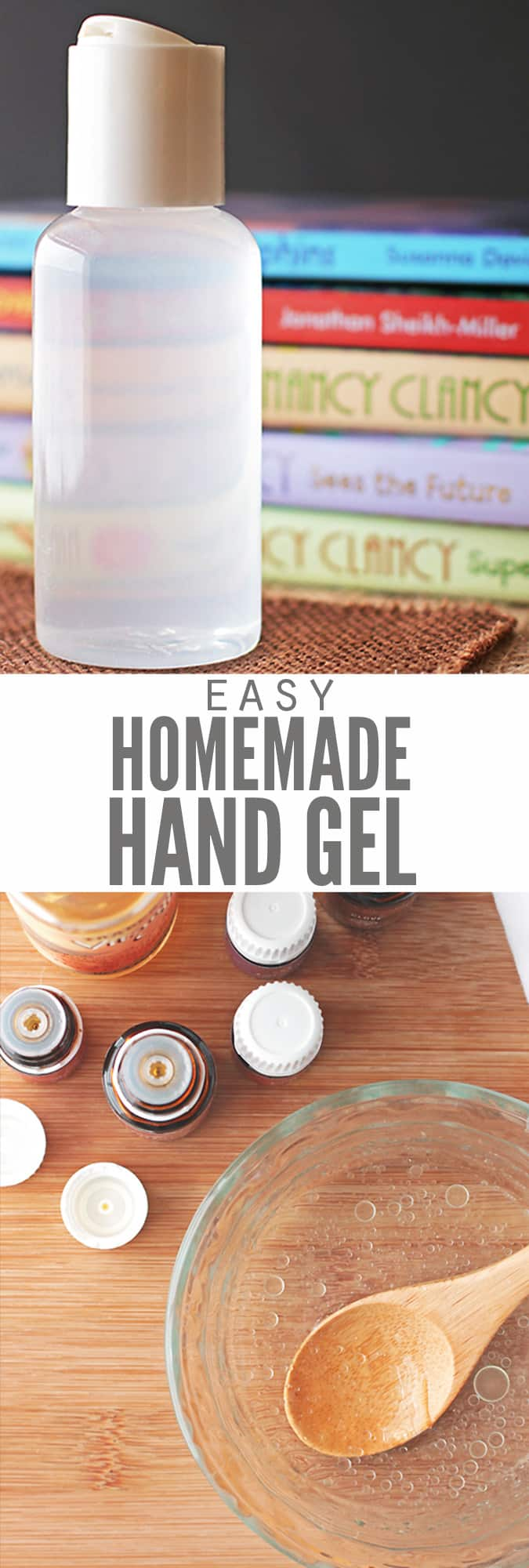 Try this easy and all-natural Homemade Hand Sanitizer recipe using vodka, witch hazel, rubbing alcohol and/or essential oils. Perfect as a gel or a spray! For more chemical-free options to keep hands and surfaces clean, try our tutorials on How to Make Thieves Foaming Hand Soap and our DIY All-Purpose Cleaner!