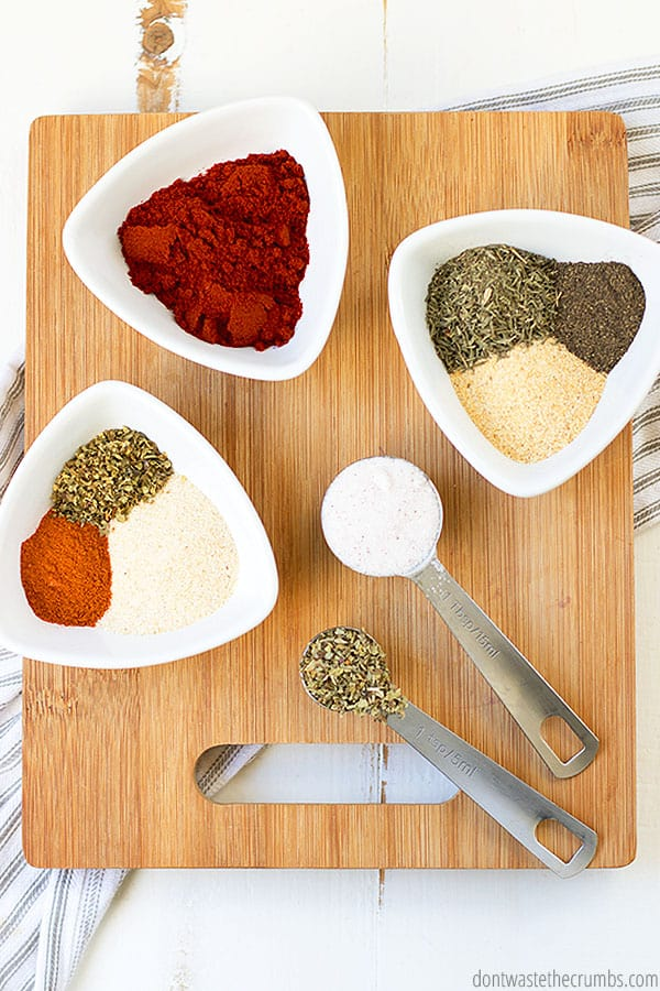 Make this seasoning blend with spices that you commonly have in your spice cabinet.