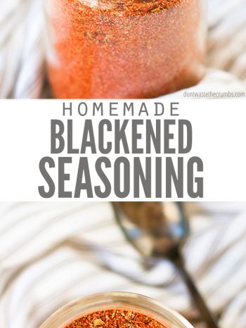 This easy-to-make Homemade Blackened Seasoning Recipe is perfect for chicken, fish, pork or vegetables! A spicy and savory blend made with pantry spices. Enjoy with our delicious Blackened Salmon and Easy Oven Roasted Broccoli!