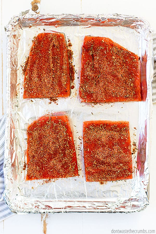This blackened salmon recipe is made with 3 simple ingredients, and it is so easy and fast to make!