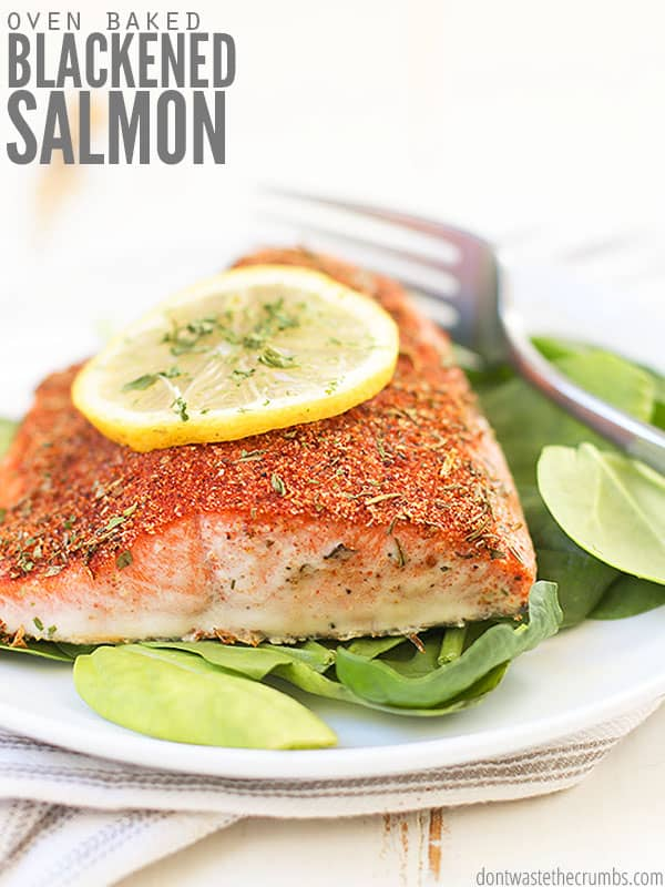 Try this super fast and easy recipe for blackened salmon. Perfect for weeknight suppers when you're short on time. Pair with simple sides like lemon butter asparagus for a healthy and delicious dinner!