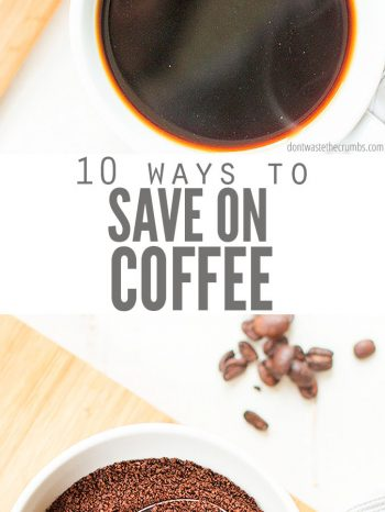 Explore these 10 Ways to Save Money on Coffee at home with these great tips to help you enjoy a great morning brew without busting the budget! Enjoy a cup of coffee with our rich and delicious Homemade Vanilla Bean Coffee Creamer.