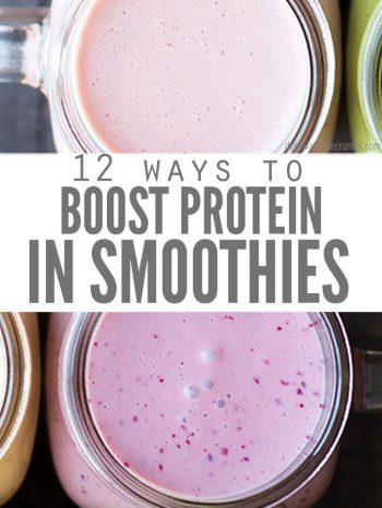 Easy ways to Boost Protein in Smoothies naturally using ingredients that you already have on hand. Cheaper and healthier than protein powders, and they taste great! Try our Healthy Blueberry Cheesecake Smoothie and our delicious green smoothie for beginners!