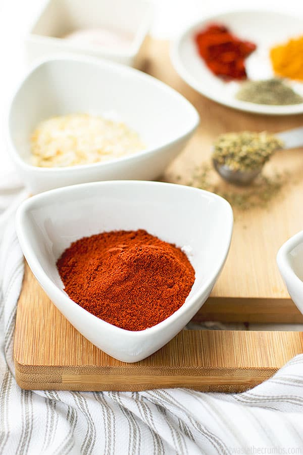 For amazing flavor, I like to use smoked paprika in my 9 spice poultry seasoning. It takes this seasoning blend to another level of delicious.