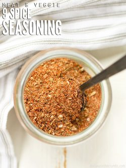 Making your own seasoning is easy with this 9 spice mix recipe - a simple blend of delicious seasonings that works amazing on chicken and vegetables! :: DontWastetheCrumbs.com