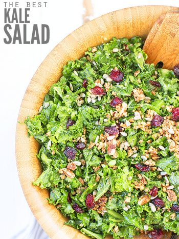 This recipe for our Best Kale Salad is so quick and easy to make. Crispy massaged kale gives this salad it's amazing flavor. Make ahead or save as leftovers. Pairs great with our Almond Crusted Baked Chicken or with our Easy Crunchy Quinoa Salad.