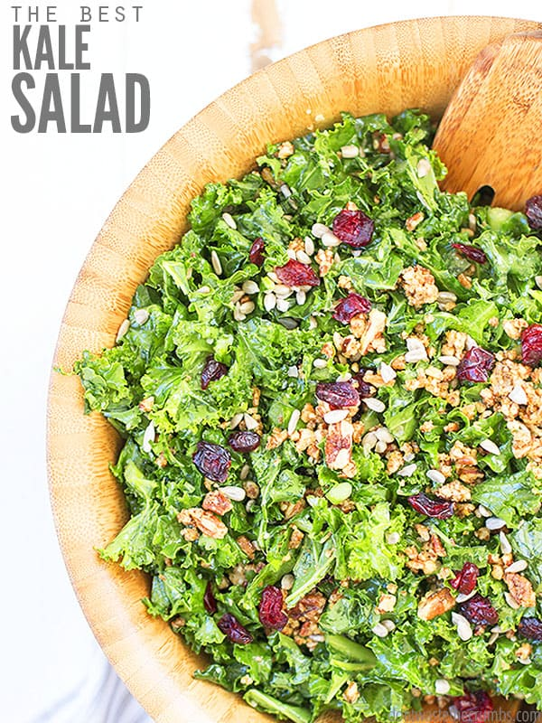 This recipe for our Best Kale Salad is so quick and easy to make. Crispy massaged kale gives this salad it's amazing flavor. Make ahead or save as leftovers.