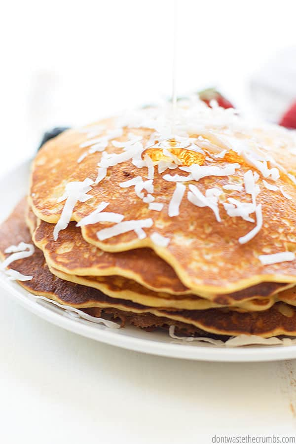 This recipe can easily be made into a gluten-free sourdough pancake recipe. Simply follow my tutorial for gluten-free sourdough starter.