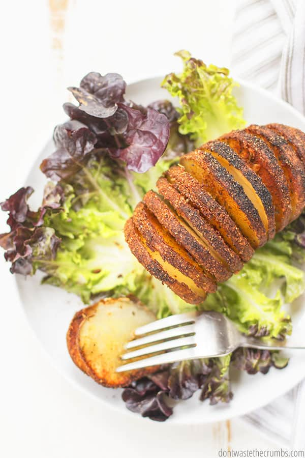 I love Hasselback potatoes for how they are both crispy and perfectly tender on the inside. My family loves them as a side for dinner!