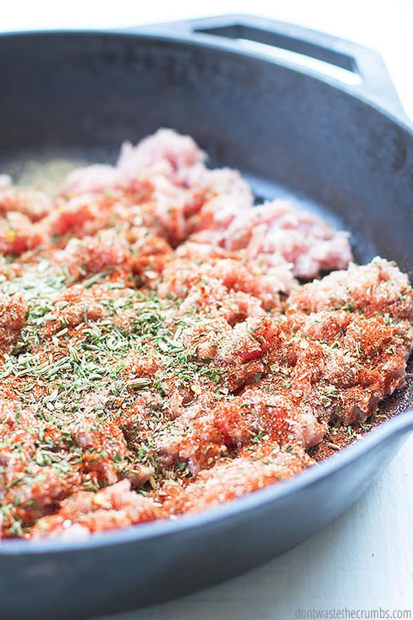 This recipe is perfect for when you need Italian sausage in a recipe. It is so easy to make, and you can store or freeze leftovers for later.