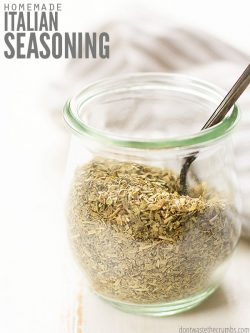 Easy recipe for the best Italian seasoning blend. Cheaper than McCormick brand, perfect for using in recipes like chicken, spaghetti & meatballs, and more! :: DontWastetheCrumbs.com