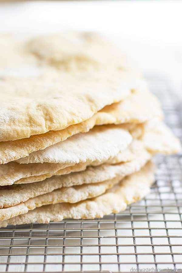 Learn how to make pita bread with this simple, 6-ingredient recipe!