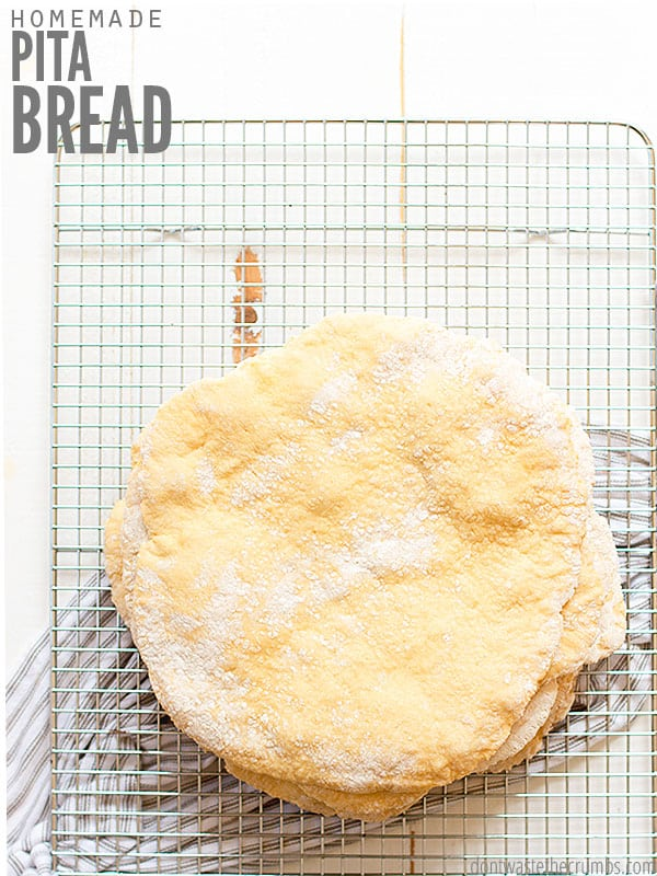 Cut out the processed food and make this homemade pita bread recipe! Easy for anyone to do, and only requires a few ingredients!