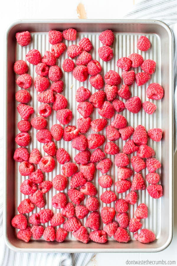 If you're wondering if it is okay to freeze fresh raspberries, the answer is yes! Fresh raspberries are best for freezing, because they won't be too mushy.