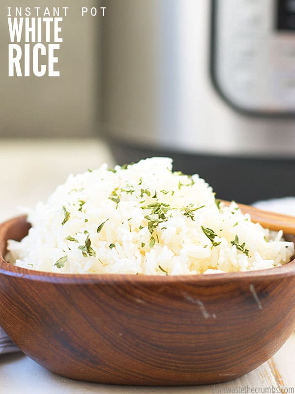 Try making this quick and easy recipe for Instant Pot White Rice. Comes out light and fluffy every time! Great as leftovers and perfect for freezer cooking! Pair with our delicious 30 min cashew chicken or enjoy as a simple beans and rice dinner!