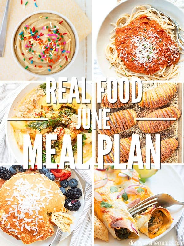 Try these easy summer recipes on your next meal plan! This four week meal plan for June will help simplify your weeknight dinners and make cooking easy!  :: Dontwastethecrumbs.com