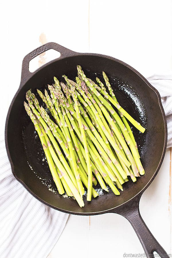 This asparagus so easy to sautee with just a few simple ingredients! Enjoy as a side with nearly any main meal. YUM!