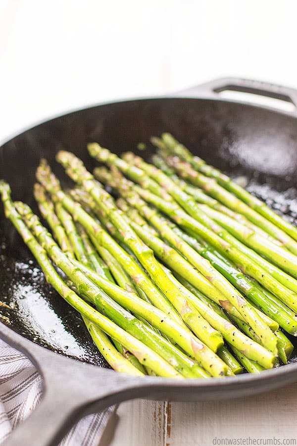 With just four simple ingredients, this lemon butter asparagus recipe cooks up to serve perfectly with any meal. You can even enjoy it as a snack!