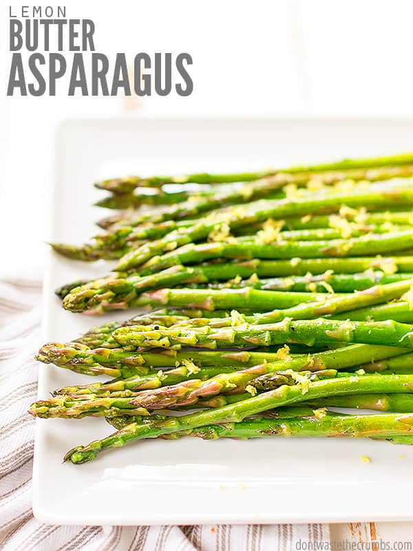 Try this quick and easy recipe for Lemon Butter Asparagus. It's versatile enough to enjoy fresh all Spring with just about any meal imaginable! Pair with our Blackened Salmon for a delicious healthy supper!