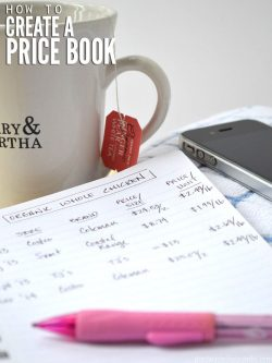 A price book can be a tremendous help in seeing trends and the true cost of items. Here are step by step instructions for creating & using one. :: DontWastetheCrumbs.com