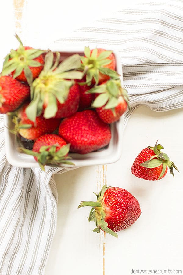 It's strawberry season! Fresh strawberries will taste the best and have the best price in Spring.