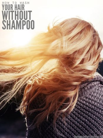This method to wash your hair naturally without shampoo works wonderfully. I made the switch years ago & it's been great - no shampoo & no greasy hair! :: DontWastetheCrumbs.com