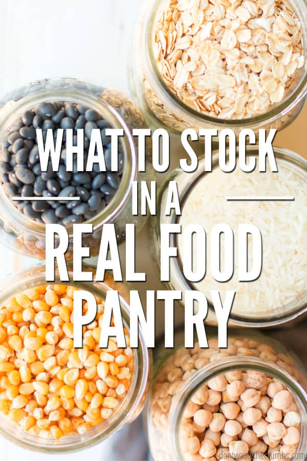 Having a perfect pantry doesn't have to be difficult. Learn tips and tricks for how to stock a real food pantry while on a budget.