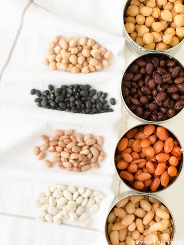 When it comes to dried beans vs canned, dry beans are usually cheaper and healthier for you.