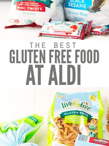 Here are my Top 11 Frugal Gluten-free Foods to Buy at Aldi, plus other allergy-friendly frugal foods to buy! Helps keep my grocery budget under control and our family healthy! Also enjoy my Ultimate Guide to Shopping at Aldi.