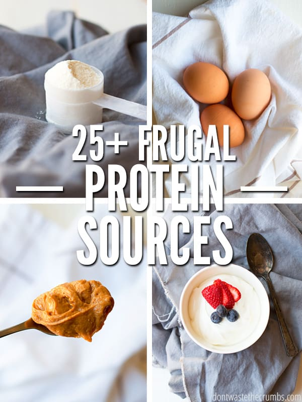 Here are 25+ Cheap and Healthy High Protein Foods that will help with muscle building and weight loss, plus they're all naturally low fat, budget-friendly with many vegan options!