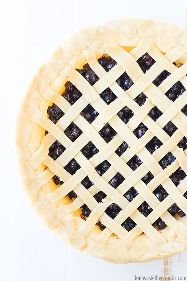 A blueberry pie recipe that is not runny is totally possible with this simple recipe. Because I use fresh or frozen berries, the pie bakes beautifully and is not runny.