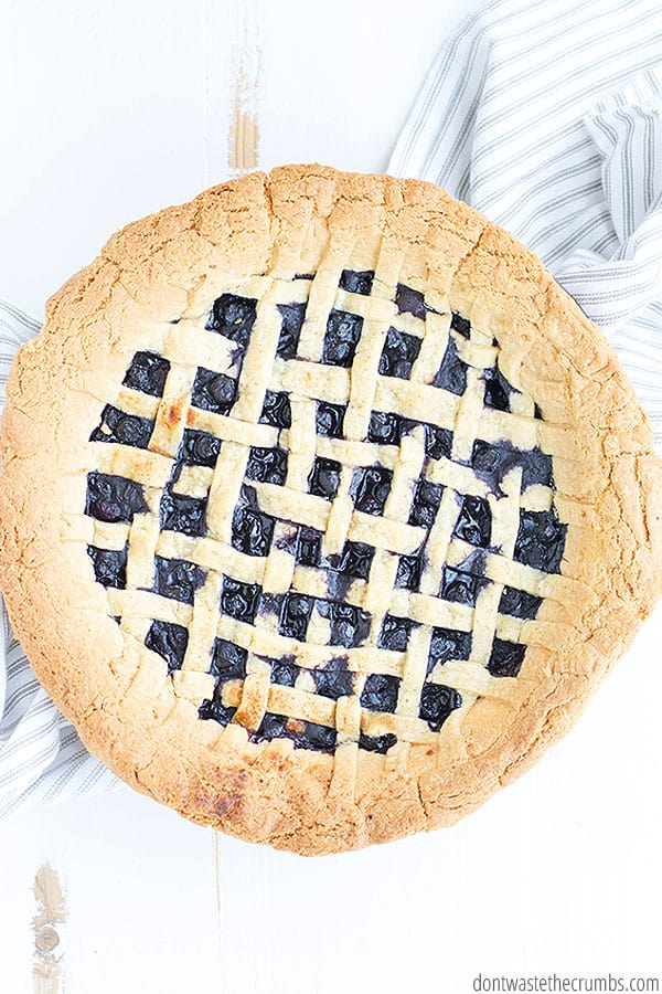 Homemade blueberry pie is perfect for serving at holiday meals or just on any day for the family.