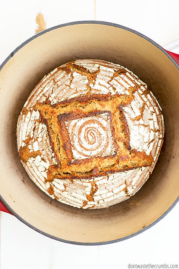 I like to make my own Einkorn flour with Einkorn berries from Jovial foods. You can also buy the whole wheat einkorn flour from Jovial foods to make this sourdough artisan bread recipe.