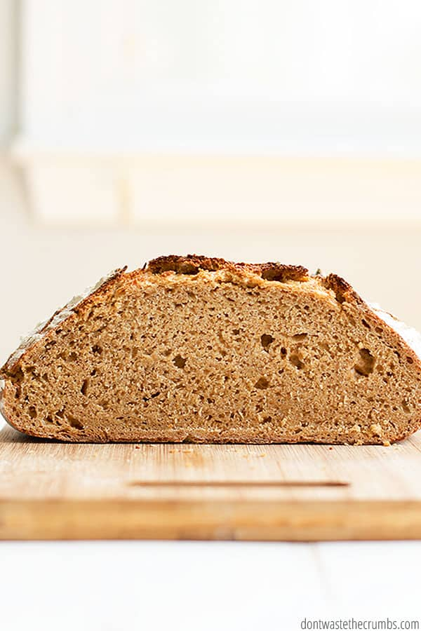 This recipe for whole wheat einkorn sourdough bread is simple and produces perfectly tangy sourdough.