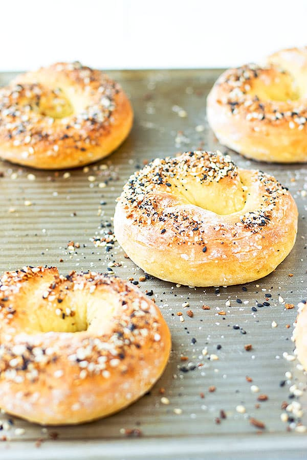 Simple, versatile, quick, and easy. This bagel recipe is wonderful and so easy to make.