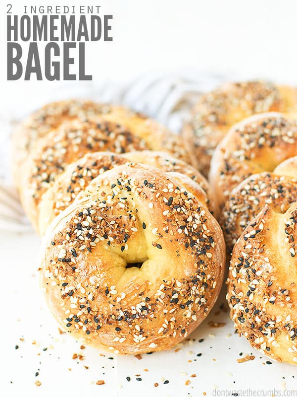 These 2 ingredient bagels are SUPER easy to make and taste amazing! And they are made with no yeast - just flour and Greek yogurt!