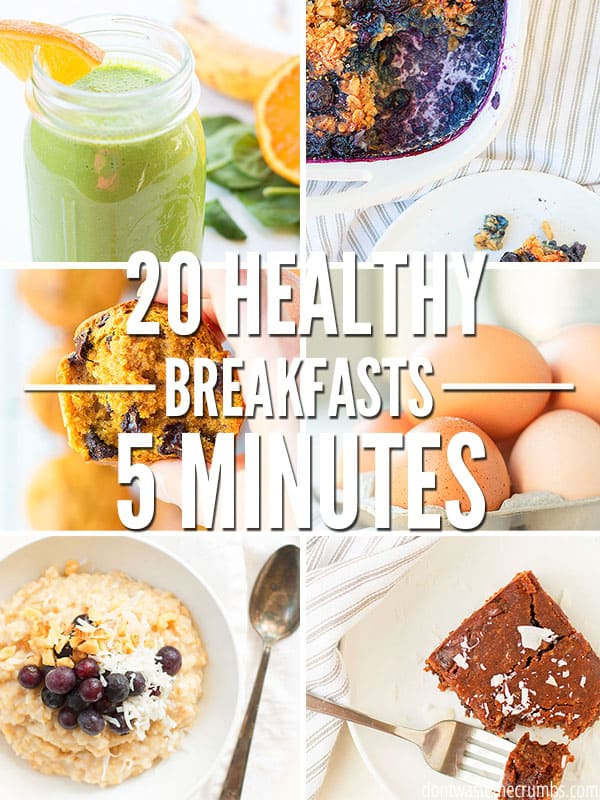Busy school mornings means fast breakfast ideas, and this awesome list of 20 healthy breakfast options for school is perfect. Simple recipes ready in less than 5 minutes and perfect for days when you need something fast and healthy!