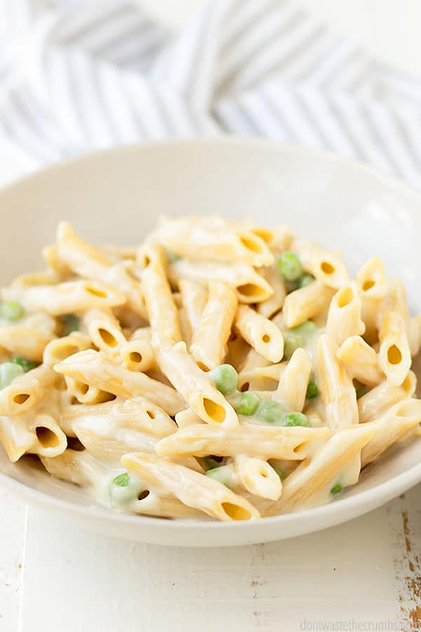 Alfredo sauce is great because you can use it on so many different dishes or with different types of pasta, like fettuccine or on homemade pizza.