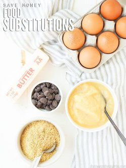 Here are the top 25+ Healthy and Easy Food Substitutions that will save you money on groceries, time, and space in your pantry! :: DontWastetheCrumbs.com