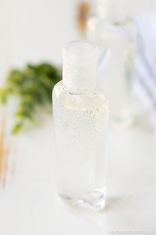 If you like sanitizer to smell good, you can use an essential oil when you make your own homemade hand sanitizer. Lavender is a popular scent many people love for hand sanitizer.