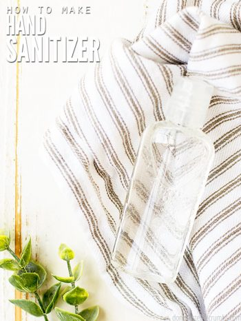 Try this easy DIY Hand Sanitizer recipe using rubbing alcohol, glycerin, and aloe vera. Perfect for use as a gel or a spray hand sanitizer!