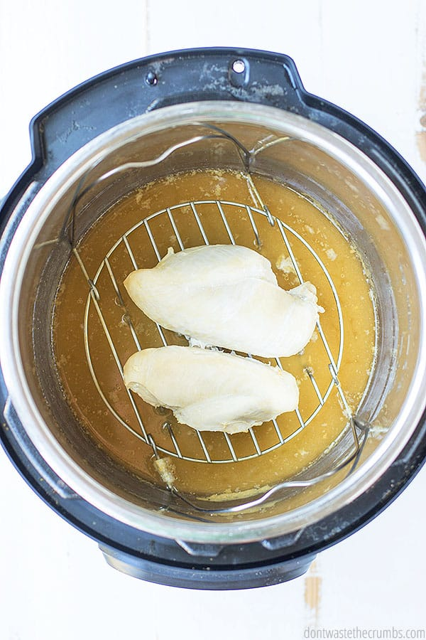 Learn how to cook frozen chicken breast in the Instant Pot with this simple recipe. Makes dinner so easy and simple.