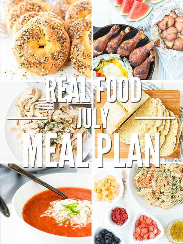 Use this one month meal plan for July to help you plan simple summer dinners! Easy, healthy, fresh meal ideas to feed your family good food all month long.